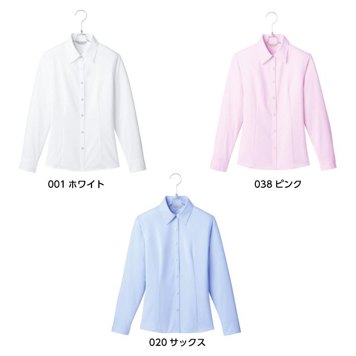 【ブラウス/事務服】HCB3501 長袖ブラウス オールシーズン レディース【AITOZ/ピエ】カラー