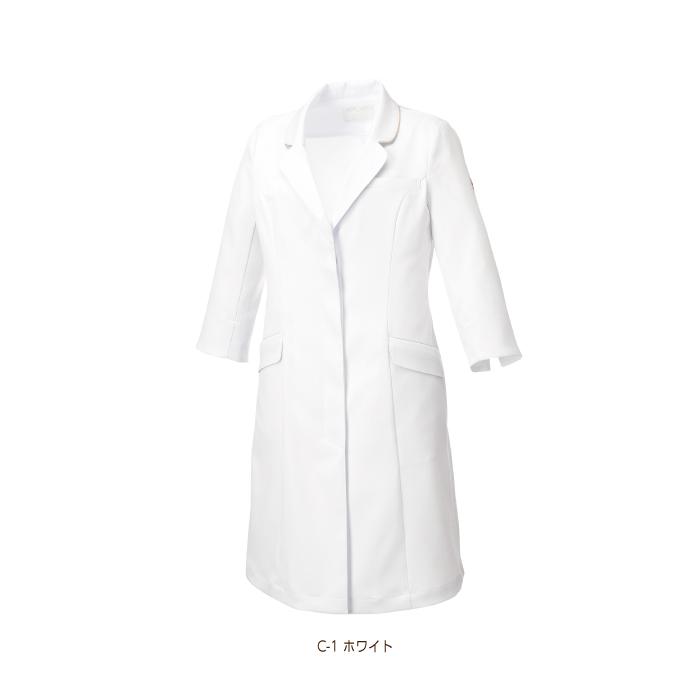 【ドクターコート/医療】MK0012ミッシェルクラン女性ドクターコート レディース【ミッシェルクラン】 カラー